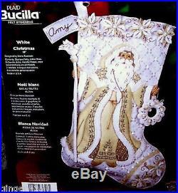 Bucilla WHITE CHRISTMAS Felt Stocking Kit Very Rare Authentic USA not 2011