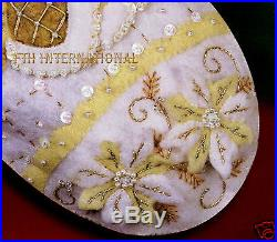 Bucilla White Christmas 18 Felt Stocking Kit #85318 Santa, Gold & Cream, 2006