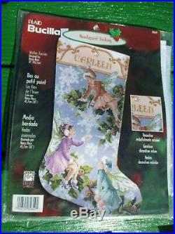 Bucilla Winter Fairies Christmas Needlepoint 18 Stocking Kit 84649 Rare