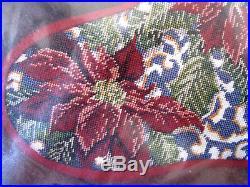 Candamar Christmas Needlepoint Stocking Craft Kit, CHICKADEES & POINSETTIAS, 30816