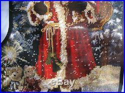 Candamar Christmas Needlepoint Stocking Holiday Craft Kit, SANTA, Gelsinger, #30896