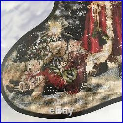 Candamar Christmas Needlepoint Stocking Kit Victorian SANTA Gelsinger 30896