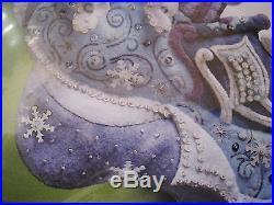 Christmas BUCILLA STOCKING FELT Applique Holiday KIT, SNOW QUEEN, 86109, Rare, MIP