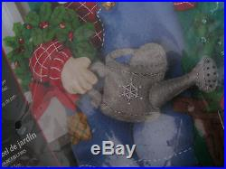 Christmas Bucilla Felt Applique Holiday Stocking Craft Kit, GARDEN SANTA, 85428,18