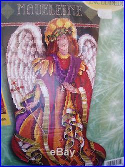Christmas Bucilla Needlepoint Holiday Stocking Kit, HEAVENLY ANGEL, Baatz, 60771,18