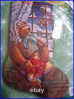 Christmas Bucilla Needlepoint Stocking Kit, A GIFT FOR SANTA, Rossi, 60776, Size 18