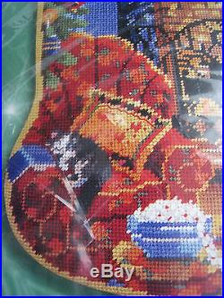 Christmas Bucilla Needlepoint Stocking Kit, ALL HEARTS COME HOME, Rossi, 18,60779