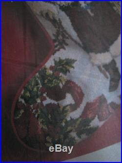 Christmas Candamar Holiday Needlepoint Stocking Craft Kit, ANTIQUE SANTA, 30673,17