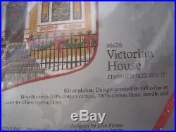 Christmas Candamar Needlepoint Stocking Holiday Kit, VICTORIAN HOUSE, 30638,17