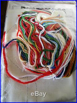Christmas Crewel Stitchery Dimensions Stocking KIT, SANTA FULL OF TOYS, 8075,16