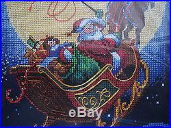 Christmas Dimensions Counted Cross Holiday Stocking Kit, HERE COMES SANTA, #8492
