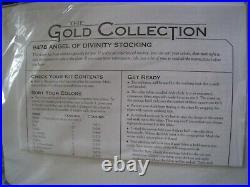 Christmas Dimensions GOLD Collection Counted Stocking KIT, ANGEL OF DIVINITY, 8478