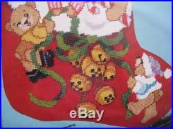Christmas Holiday Bucilla Needlepoint Stocking Kit, JINGLE BEARS, Gillum, 60706,18