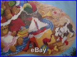 Christmas Holiday Bucilla Needlepoint Stocking Kit, SANTA'S VISIT, Gillum, 60702,18