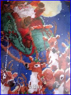 Christmas Janlynn Holiday Needlepoint Stocking Kit, UP UP AND AWAY, 18,023-0213