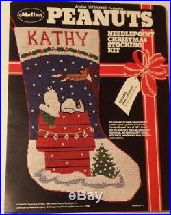 Christmas, MALINA, DREAMS, 19PEANUTS Stocking KIT 8500/001 RARE Needlepoint SNOOPY