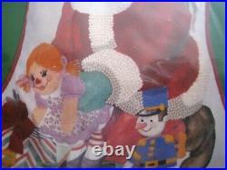 Christmas Needle Treasures Crewel Stitchery Stocking KIT, JOLLY SANTA, 00844,19
