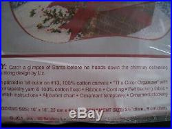 Christmas Needle Treasures Needlepoint Stocking Kit, DOWN THE CHIMNEY, 06885, Santa