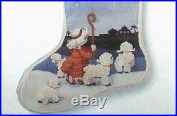 Christmas Stocking Sunset Crewel Embroidery Kit THE LITTLE SHEPHERD 2031
