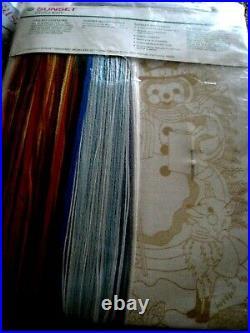 Christmas Sunset Crewel Stitchery Craft Stocking KIT, FRIENDS OF THE SNOWMAN, 2029