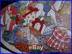 Christmas Sunset Crewel Stitchery Holiday Stocking KIT, COZY FIRESIDE, 18027,16