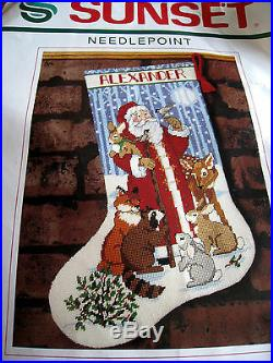 Christmas Sunset Holiday Stocking Craft Kit, SANTA AND FRIENDS, Stouffer, 19006,16