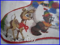 Christmas Sunset Needlepoint Holiday Stocking Kit, OUR SNOWMAN, Jennings, #6022,18