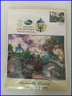 Cinderella Wish on a Star Thomas Kinkade Disney Dreams Cross Stitch Kit 16x12