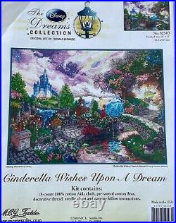 Cinderella Wishes Upon a Dream Disney Dreams Thomas Kinkade Cross Stitch Kit