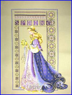 Completed Cross Stitch Lavender & Lace LL50 Celtic Spring