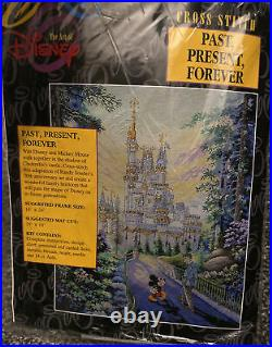 Counted Cross Stitch Kit Past Present Forever Walt Disney Mickey Mouse Castle