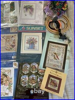 Cross Stitch Lot Kits Dimensions Lanarte Janlynn