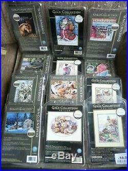 Cross stitch Kit Gold Collection Job Lot Assorted Designs New by Dimensions