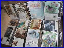 Cross stitch Kits 12 Kits Assorted Designs/sizes by Dimensions Job Lot