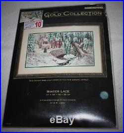 DIMENSIONS GOLD COLLECTIONWinter Lace(serene wintertime country scene) #35111