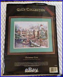 DIMENSIONS Gold Collection COUNTED CROSS STITCH KIT CHRISTMAS COVE Free Ship