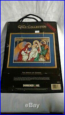 DIMENSIONS Gold Collection Christmas The Birth of Christ Cross Stitch Kit#8563