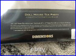 DIMENSIONS Gold Collection Doll House Tea Party #3799 Counted Cross Stitch 1995