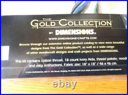 DIMENSIONS THE GOLD COLLECTION Hummingbird Wreath 35132 Aida Thread NOS Unopened