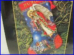 Dimensions 2000 Gold Collection Heavenly Herald Stocking Linda Green Nativity