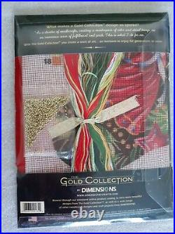 Dimensions Christmas Angel Stocking Kit 9135 NOS'05 Gold Collection Beaded