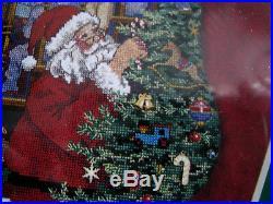 Dimensions Christmas Counted Stocking CHARTS & CHARMS Kit, PEEKING AT SANTA, 8538