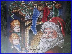 Dimensions Christmas Holiday Counted Cross Stocking KIT, PEEKING AT SANTA, 8620,16
