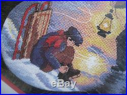 Dimensions Christmas Holiday Needlepoint Stocking Kit, MOONLIGHT SKATERS, 9109,16