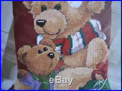 Dimensions Christmas Needlepoint Stocking Craft Kit, GIFT FOR TEDDY, Bear, 9130,16