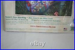 Dimensions Christmas Stocking Needlepoint Kit Santa's Toys #9129 Horse Bears NEW