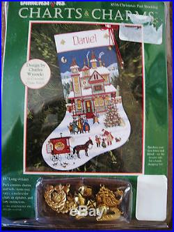 Dimensions Counted Cross Stocking CHARTS CHARMS Kit, CHRISTMAS PAST, Wysocki, 8516