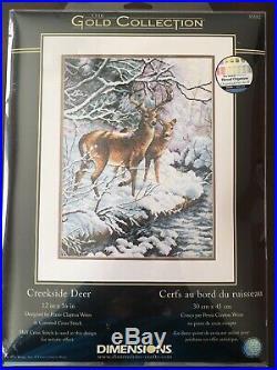 Dimensions Creekside Deer cross stitch kit