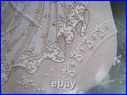 Dimensions Crewel Stitchery Christmas Stocking KIT, SNOWFLAKE DREAMS ANGEL, 8079