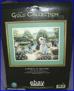 Dimensions Cross Stitch Kit A STROLL IN THE PARK The Gold Collection #35021